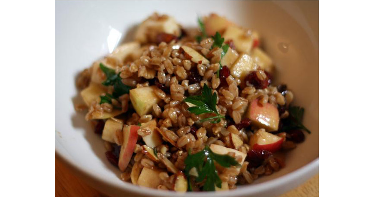 Apple & Almond Farro Salad