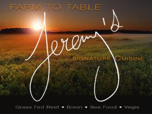 Farm to Table Signature Cuisine