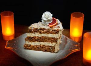 Organic Triple Layer Carrot Cake Gluten Free