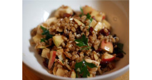Apple and Almond Farro Salad