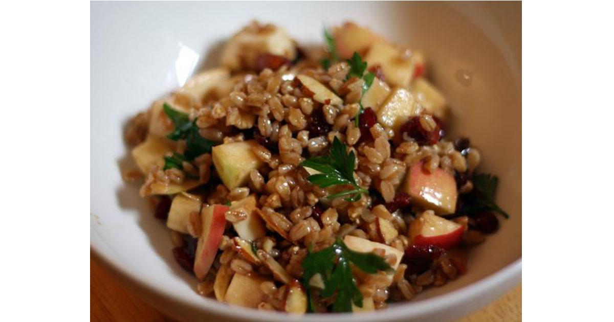 Apple & Almond Farro Salad