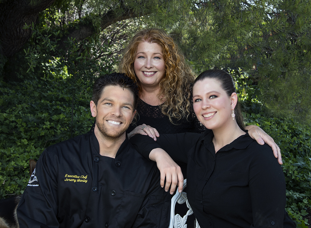 Chef Jeremy Manley, his mother Teresa and his sister Brigida, all run Jeremy's on the Hill.